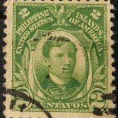 Sellos: FILIPINAS. SELLOS DE LA ADMINISTRACIÓN USA, 1917. 2 CENTS. VERDE AMARILLO (Nº 204A YVERT).. Lote 144566450
