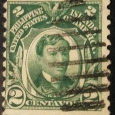 Sellos: FILIPINAS. SELLOS DE LA ADMINISTRACIÓN USA, 1906. 2 CENTS. VERDE AMARILLO (Nº 204A YVERT).. Lote 144568274