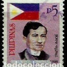 Sellos: FILIPINAS SCOTT 2607 (PIE:1999) (BANDERA NACIONAL Y JOSE RIZAL) USADO. Lote 144911098
