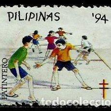 Sellos: FILIPINAS 1994 (VIÑETA PRO-TUBERCULOSOS) (PATINERO) USADO. Lote 144911826