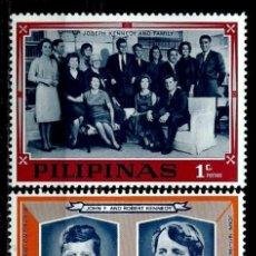 Sellos: FILIPINAS 1968 (NO EMITIDOS) (FAMILIA KENNEDY) NUEVO. Lote 144912042