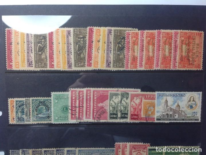 Sellos: Lote de antiguos sellos de FILIPINAS Los que se ven en la fotografía, en total unos 90 sellos aproxi - Foto 2 - 147680214