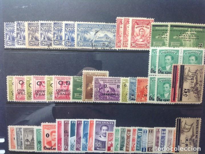 Sellos: Lote de antiguos sellos de FILIPINAS Los que se ven en la fotografía, en total unos 90 sellos aproxi - Foto 3 - 147680214