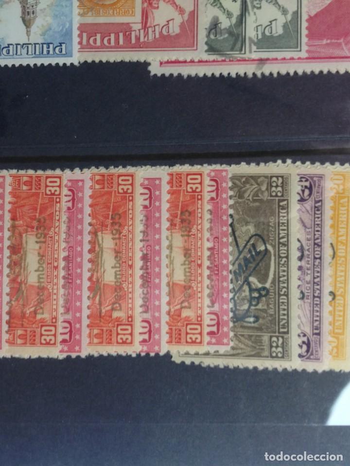 Sellos: Lote de antiguos sellos de FILIPINAS Los que se ven en la fotografía, en total unos 90 sellos aproxi - Foto 5 - 147680214