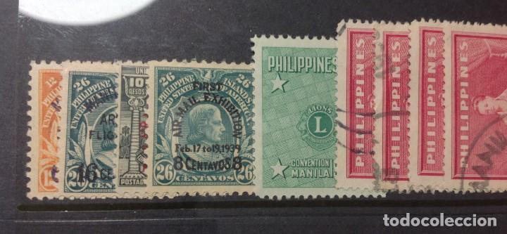 Sellos: Lote de antiguos sellos de FILIPINAS Los que se ven en la fotografía, en total unos 90 sellos aproxi - Foto 6 - 147680214