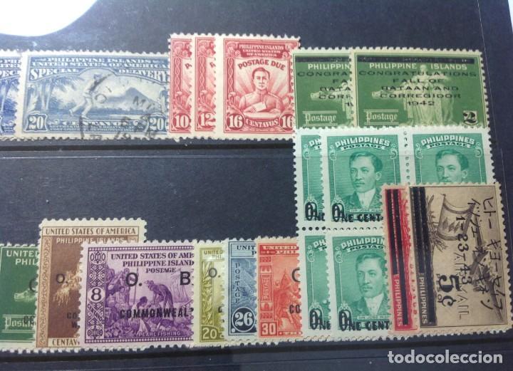 Sellos: Lote de antiguos sellos de FILIPINAS Los que se ven en la fotografía, en total unos 90 sellos aproxi - Foto 9 - 147680214