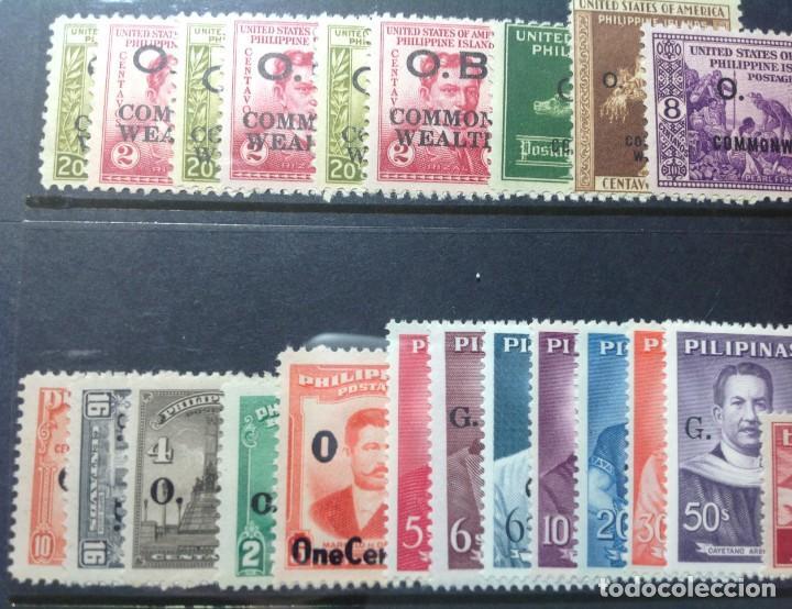 Sellos: Lote de antiguos sellos de FILIPINAS Los que se ven en la fotografía, en total unos 90 sellos aproxi - Foto 10 - 147680214