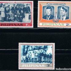 Sellos: FILIPINAS - LOTE DE 3 SELLOS - FAMILIA KENNEDY (NUEVO) LOTE 4. Lote 153943910