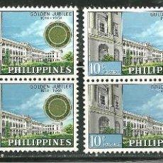Sellos: FILIPINAS 1961 IVERT 516/17 *** CENTENARIO DEL COLEGIO SAN JUAN BAUTIASTA DE LA SALLE EN MANILA. Lote 154237682