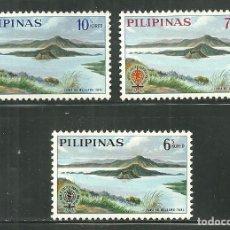 Sellos: FILIPINAS 1962 IVERT 553/55 *** ERADICACIÓN DEL PALUDISMO. Lote 154237922