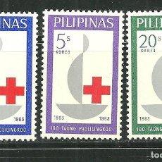 Sellos: FILIPINAS 1963 IVERT 570/72 *** CENTENARIO DE LA CRUZ ROJA INTERNACIONAL. Lote 154238082