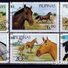 Sellos: FILIPINAS 1985. SERIE CABALLOS. *,MH( 16-445). Lote 156959246