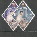 Sellos: FILIPINAS YVERT NUM. 528/529 * SERIE COMPLETA CON FIJASELLOS. Lote 159485490