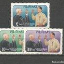 Sellos: FILIPINAS YVERT NUM. 547/549 * SERIE COMPLETA CON FIJASELLOS. Lote 159485914
