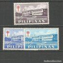 Sellos: FILIPINAS YVERT NUM. 550/552 * SERIE COMPLETA CON FIJASELLOS. Lote 159486690