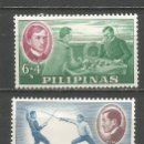 Sellos: FILIPINAS YVERT NUM. 557/558 * SERIE COMPLETA CON FIJASELLOS. Lote 159487194