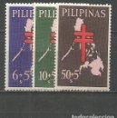 Sellos: FILIPINAS YVERT NUM. 567/569 * SERIE COMPLETA CON FIJASELLOS. Lote 159487862