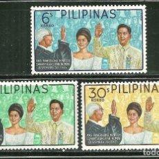 Stamps - Filipinas 1966 Ivert 646/48 *** Juramento del Presidente Ferdinand E. Marcos - 159488246