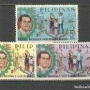 Sellos: FILIPINAS YVERT NUM. 581/583 * SERIE COMPLETA CON FIJASELLOS. Lote 159488446
