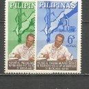 Sellos: FILIPINAS YVERT NUM. 603/604 * SERIE COMPLETA CON FIJASELLOS. Lote 159489438