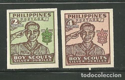 FILIPINAS 1949 IVERT 351/52 *** 25º ANIVERSARIO DEL SCOUTISMO (Sellos - Extranjero - Asia - Filipinas)