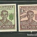 Sellos: FILIPINAS 1949 IVERT 351/52 *** 25º ANIVERSARIO DEL SCOUTISMO. Lote 159996838