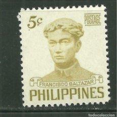 Sellos: FILIPINAS 1953 IVERT 409 *** SEMANA NACIONAL DEL LENGUAJE - FRANCISCO BALTAZAR. Lote 159997554