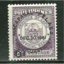 Sellos: FILIPINAS 1961 IVERT 530 *** ELECCIÓN PRESIDENCIAL. Lote 160000194