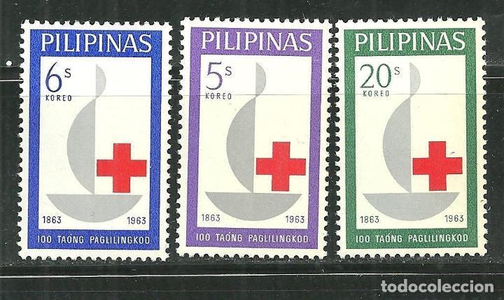 FILIPINAS 1963 IVERT 570/72 *** CENTENARIO DE LA CRUZ ROJA INTERNACIONAL (Sellos - Extranjero - Asia - Filipinas)