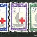 Sellos: FILIPINAS 1963 IVERT 570/72 *** CENTENARIO DE LA CRUZ ROJA INTERNACIONAL. Lote 160000914