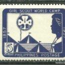 Sellos: FILIPINAS 1957 IVERT 451 *** CENTENARIO DEL NACIMIENTO DE LORD BADEN POWELL. Lote 161343918