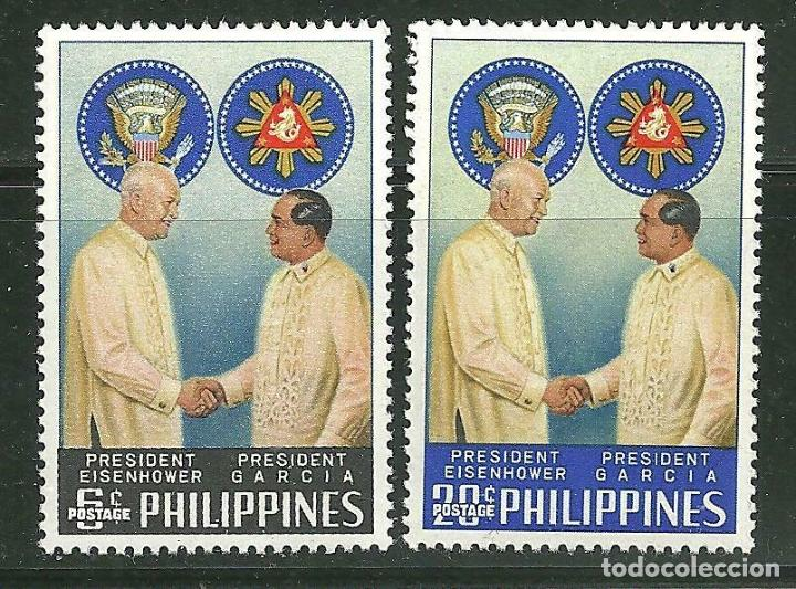 FILIPINAS 1960 IVERT 508/9 *** VISITA DEL PRESIDENTE EISENHOWER (Sellos - Extranjero - Asia - Filipinas)