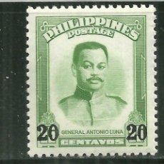 Sellos: FILIPINAS 1961 IVERT 511 *** GENERAL ANTONIO LUNA - PERSONAJES - SOBRECARGADO. Lote 161346322