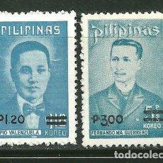 Sellos: FILIPINAS 1977 IVERT 1034/35 *** SERIE BÁSICA - FERNANDO GUERREO Y PIO VALENZUELA - SOBRECARGADOS. Lote 161348354