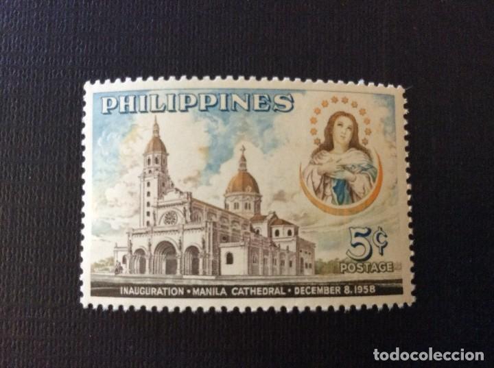 FILIPINAS Nº YVERT 465*** AÑO 1958. CONSAGRACION DE LA RECONSTRUIDA CATEDRAL DE MANILA (Sellos - Extranjero - Asia - Filipinas)