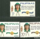 Sellos: FILIPINAS 1966 IVERT 643/45 *** 25º ANIVERSARIO DEL SCOUTISMO FEMENINO. Lote 162700174