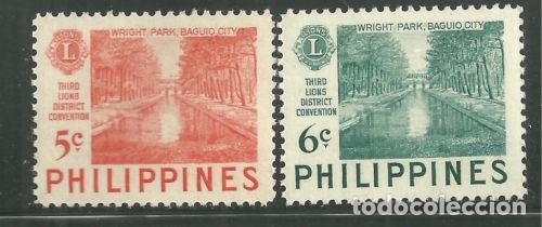 FILIPINAS 1953 IVERT 407/8 *** 3ª CONFERENCIA DE DISTRITO DEL LIONS INTERNACIONAL (Sellos - Extranjero - Asia - Filipinas)