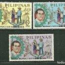 Sellos: FILIPINAS 1963 IVERT 581/83 *** PLAN QUINCENAL MACAPAGAL POR EL DESARROLLO ECONÓMICO. Lote 163038498