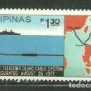Sellos: FILIPINAS 1977 IVERT 1047 *** INAUGURACIÓN SISTEMA OLUHO DE COMUNICACIÓN POR CABLE. Lote 163038822