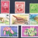Sellos: FILIPINAS 1971 / 79 - MICHEL 318 + 550 + 1256 + 1270 + 1291 + 1292 + 1306 + D53 ( USADOS ). Lote 163060446