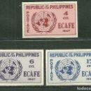 Sellos: FILIPINAS 1948 IVERT 335/37 *** CONFERENCIA DE LA COMISIÓN ECONÓMICA DE ASIA Y EXTREMO ORIENTE. Lote 165168658