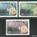 Sellos: FILIPINAS 1962 IVERT 547/49 *** ANIVERSARIO DE LA PRESIDENCIA DE DIORDADO MACAPAGAL. Lote 165170630