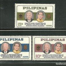 Sellos: FILIPINAS 1965 IVERT 611/13 *** VISITA DEL PRESIDENTE LUBKE DE ALEMANIA OCIIDENTAL. Lote 165171578