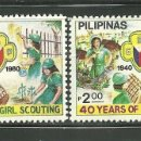 Sellos: FILIPINAS 1980 IVERT 1190/1 *** 40º ANIVERSARIO DEL SCOUTISMO FEMENINO. Lote 165171702