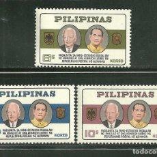 Sellos: FILIPINAS 1965 IVERT 611/13 *** VISITA DEL PRESIDENTE LUBKE DE ALEMANIA OCIIDENTAL. Lote 167975536