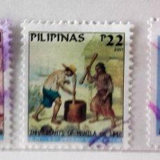Sellos: FILIPINAS, LOTE DE 3 SELLOS DIFERENTES, USADOS . Lote 172734014