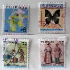Sellos: FILIPINAS, LOTE DE 4 SELLOS DIFERENTES, USADOS . Lote 172734050