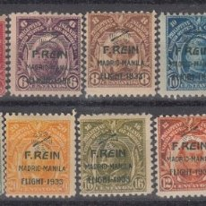 Sellos: FILIPINAS E.E.U.U. AEREOS - VUELO MADRID MANILA - 1933 NUMS. 31A A 31K - NUEVOS CON FIJASELLOS. Lote 176354144