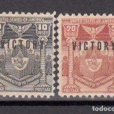 Sellos: FILIPINAS, ADMINISTRACIÓN AMERICANA, 1945 YVERT Nº 319L, 319M, /**/ SIN FIJASELLOS, . Lote 176870724
