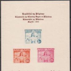 Sellos: FILIPINAS, OCUPACIÓN JAPONESA 1943 YVERT Nº HB 1 /*/. Lote 177199075